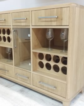 Large wine cabinet solid oak