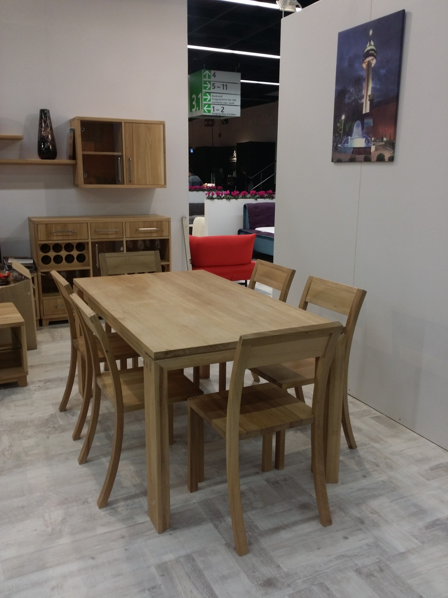 Solid Oak Dining Table With 6 Chairs Soligna