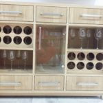 solid oak wine cabinet 15 bottles
