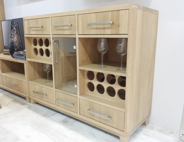 stylish wine cabinet for 15 bottles