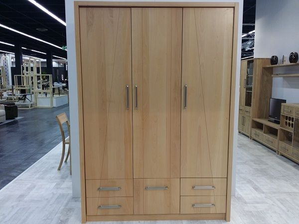 Triple Wardrobe Solid Wood Furniture
