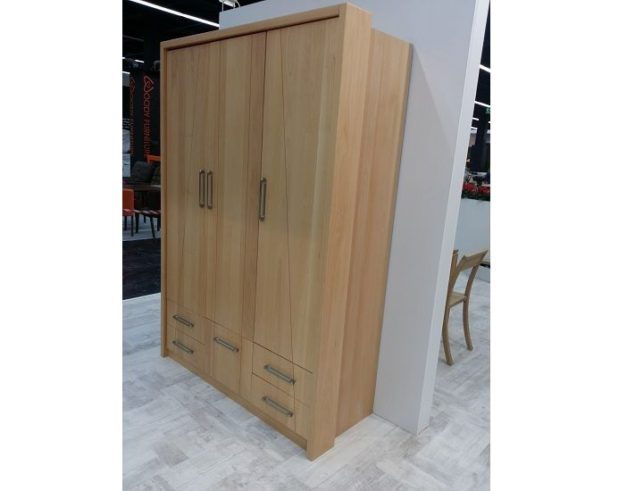 Triple wardrobe solid wood beech