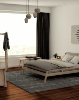 White colored beech bedroom East collection